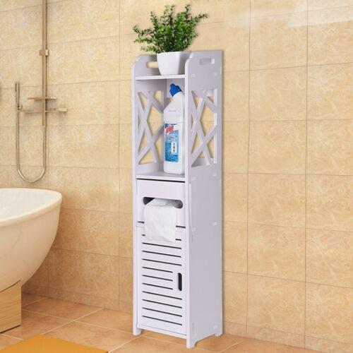 Toilet Vanity Cabinet Bath Sink Organizer Bathroom Storage Corner Floor Cabinet Bath Caddies Storage Home Garden