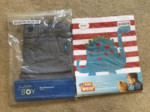 New Emma Bunton Stripe Shorts And Dinosaur T-shirt Age 4-5 In Original Packaging