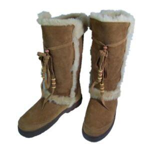 competitive price fa05f 7c747 Details zu Mubo Australia Damen Lammfellstiefel Winterstiefel Schaftstiefel
