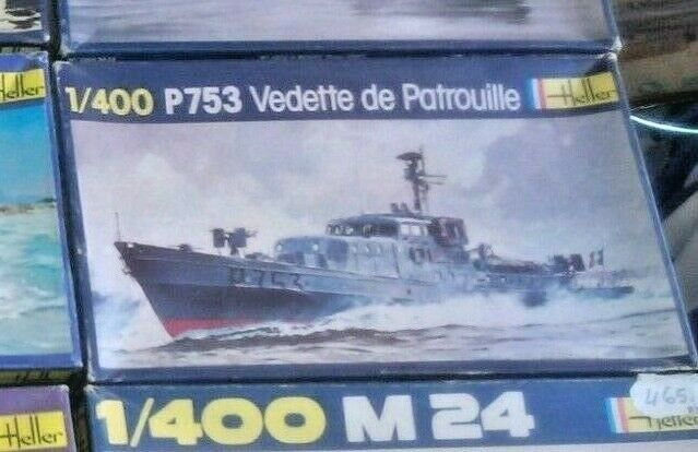 P 753 VEDETTE DE PATROUILLE   HELLER   ESCALA  1 400 VINTAGE VERY RARE