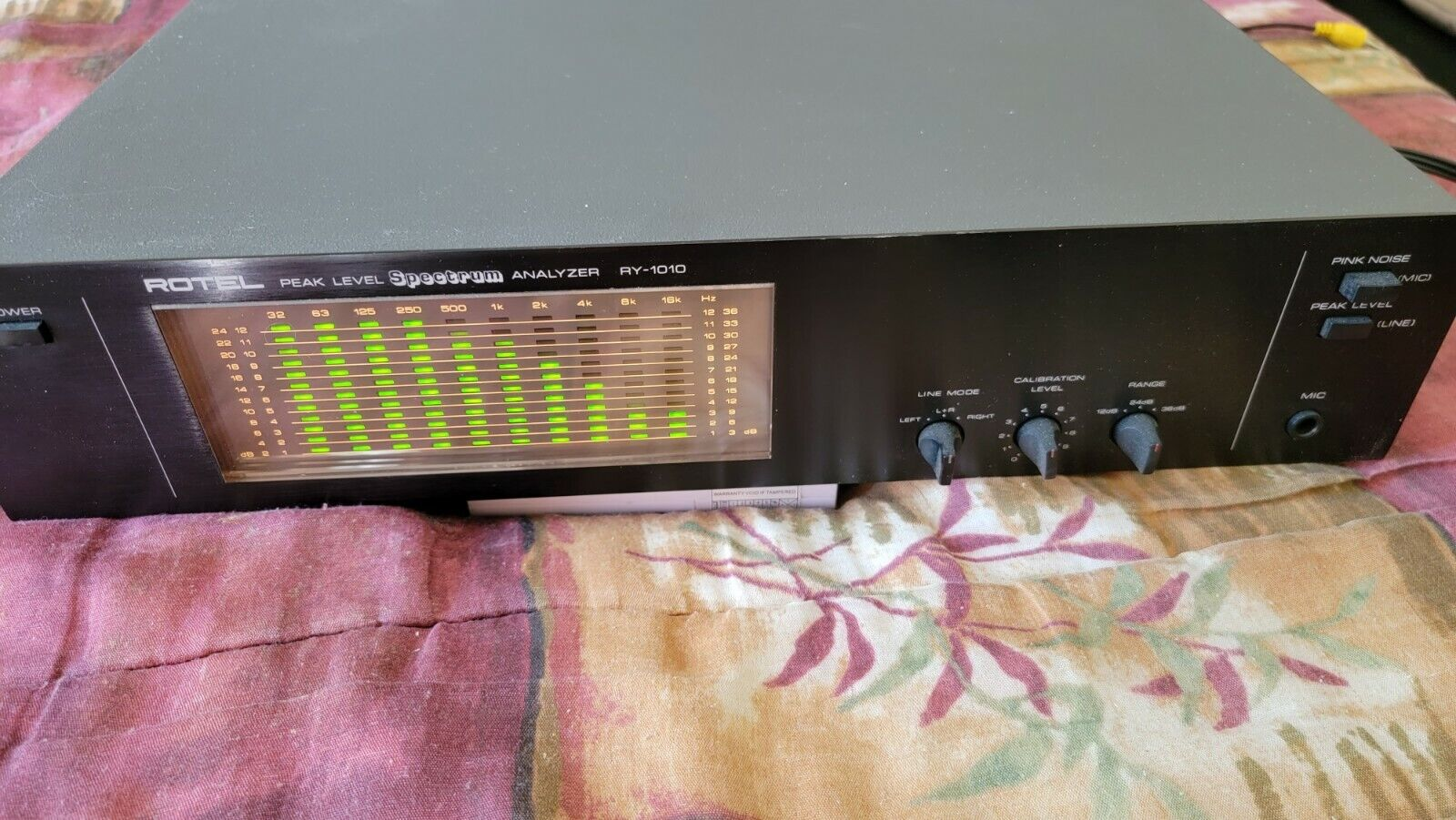 ROTEL RY-1010 💥very good💥 Vintage Stereo Equalizer Spectrum Analyzer. Buy it now for 495.00