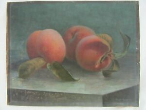 SM ORIG ANTIQUE OIL PAINTING STILL LIFE FRUIT HUGO POSSNER 1900 COUNTRY FINE ART