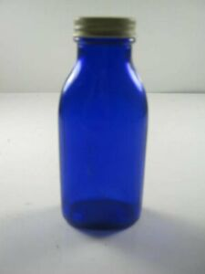 "has ""m"" On The Bottom Blue Bottle With Lid Latest Fashion"