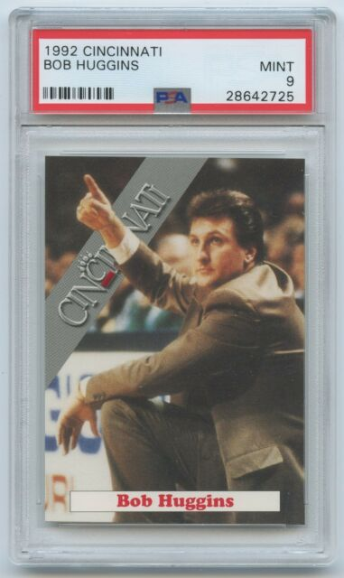 1992 93 Cincinnati Bearcats Coach BOB HUGGINS RC PSA 9 MINT