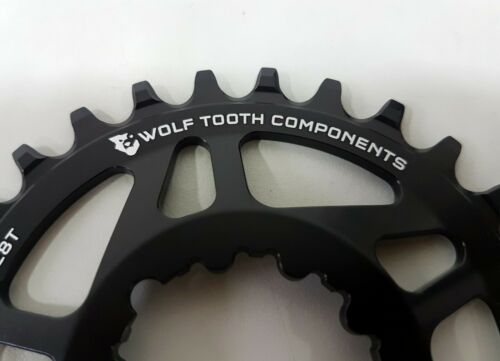 Black for SRAM GXP MTB Cranks Wolftooth Drop-Stop Direct Mount 28T Chainrings