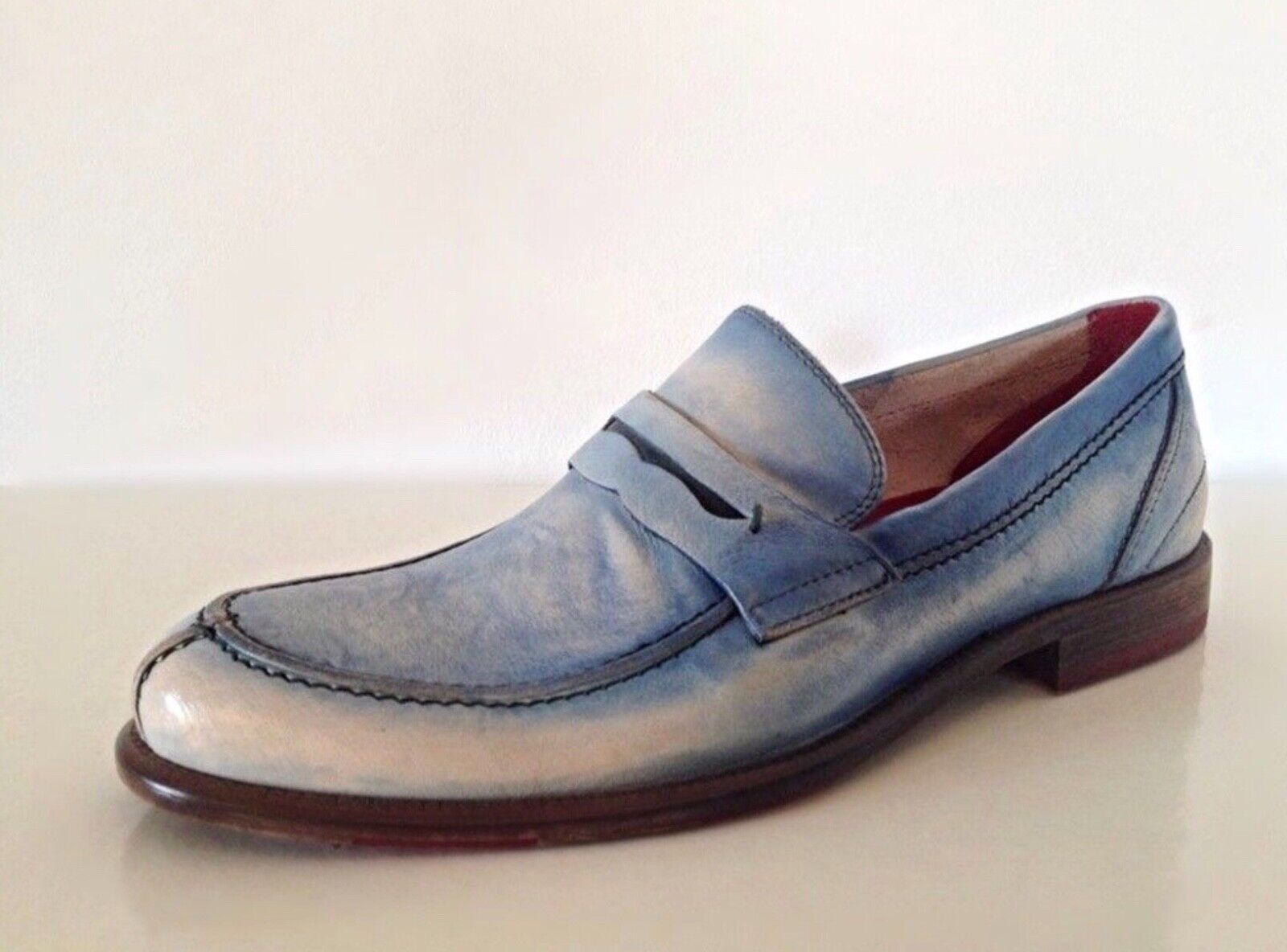 shoes Mens Made in  Leather Handmade shoes Moccasins Loafers EUR 44   45