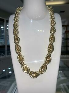 BRAND NEW SUPERSIZED PURE YELLOW GOLD 10K 24 INCH 15MM ROPE CHAIN 65 GRAMS Canada Preview