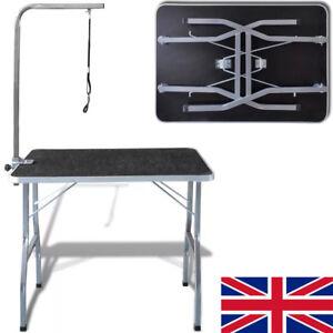 Dog-Pet-Cat-Grooming-Beauty-Table-Hydraulic-Adjustable-Folding-Bath-Table-UK