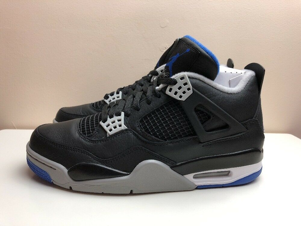 Nike Air Jordan 4 Retro Shoes Motorsport Black Blue