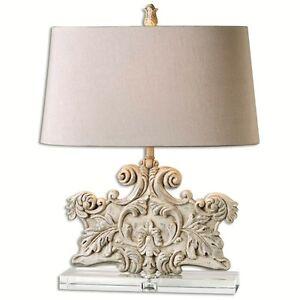 Tuscan Stone Ivory Wash Table Lamp