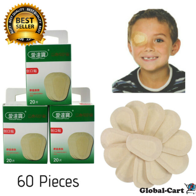 60 Piece First Aid Eye Patch Band Aid Medical Sterile Eye