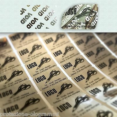 "342 Custom print warranty sticker polyester label VOID security seals 1/""x0.4/"""