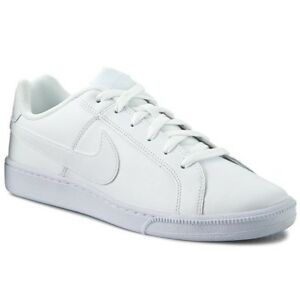 acb4c5703fe7ce Image is loading Nike-Court-Royale-White-White-Sneakers-Running-Man-