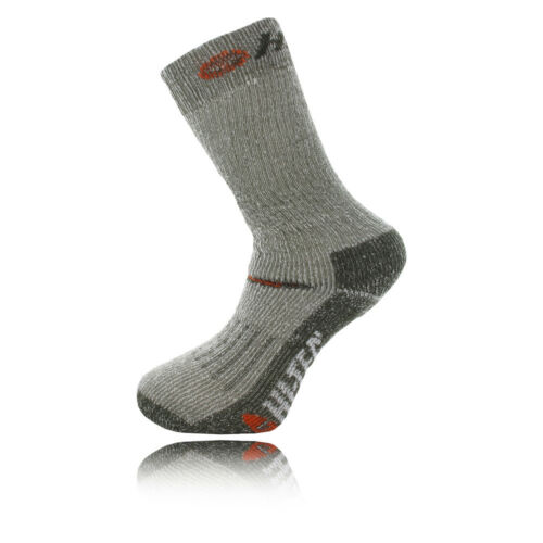 HiTec Trek Heavyweight Mens Grey Green Outdoors Walking Ankle Socks 2 Pack