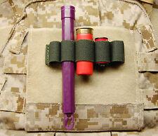 Chemlight Shotgun Shell CR123 Battery Holder Cyalume Surefire OD Multicam Hook