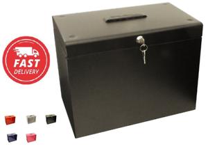 Pecho de seguridad para el hogar Oficina de almacenamiento seguro caja de archivo a prueba de fuego Impermeable Con Cerradura