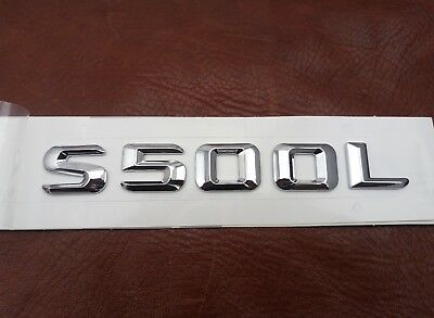 Gloss Black S500L Letters Trunk Emblem Badge Sticker for Mercedes Benz S500L