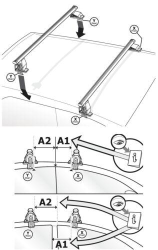ab 2015 Aluminium Dachträger Menabo Tema Skoda Superb 3V Kombilimousine 4Türer