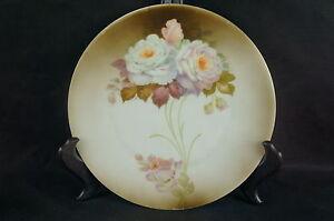 "y7-w6-a8 Honest Great Vintage Hand Painted Porcelain Plate Bavaria 8"" Antiques Platters & Trays"