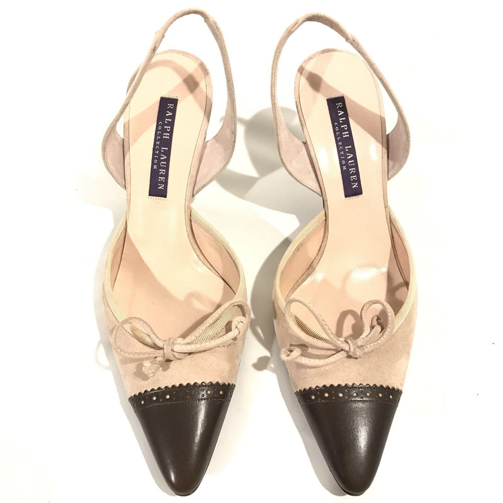 Ralph Lauren Collection Purple Label Slingback Pointed Toe Heels Heels Toe Sandal 6.5 320695