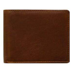 Classic Bi-Fold Brown Genuine Leather Wallet ID Credit Card Holder DON GIOVANNI
