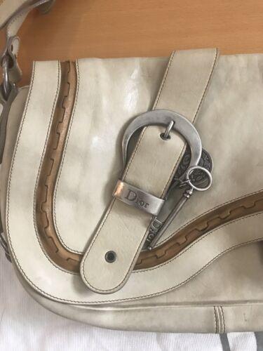 Auth Christian Dior Gaucho Saddle Bag