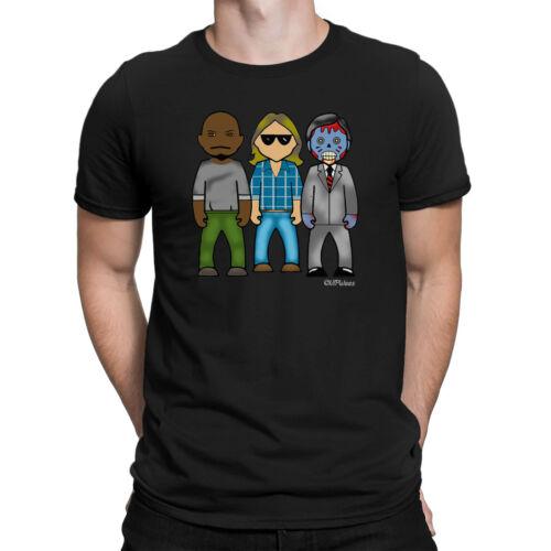 Mens VIPwees T-Shirt Sci-Fi 80s Cult Horror Movie Film Caricature Gift Him