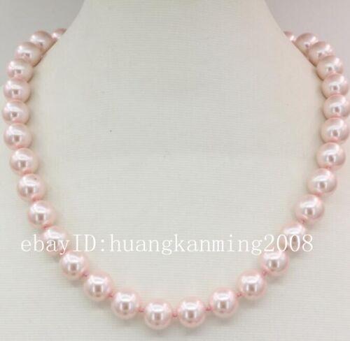 """Long 16/"""" 18/"""" 22/"""" 10 mm Rose Akoya Shell collier de perles AAA"""