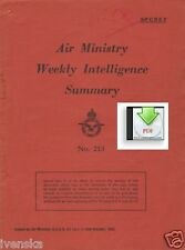 CD File Air Ministry Weekly Intelligence Summary 1943 Radio Bomb Night Fighters