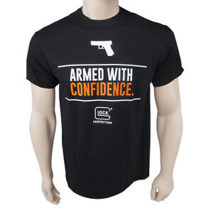 Official-GLOCK-Armed-with-Confidence-T-Shirt-Choose-Size-Color-NEW