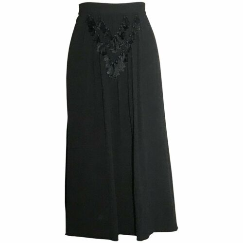 1940s VTG Mainbocher Black Tassel Embellished Mid