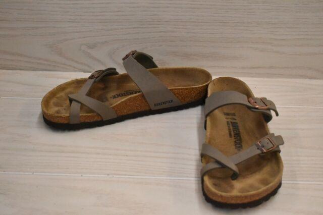 Birkenstock Mayari Sandal - Normal - W8/M6/EUR 39, Stone Birko-flor