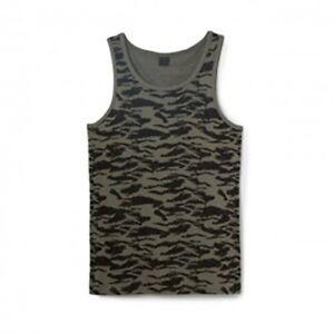 Oakley-Men-039-s-Vesuvius-Camo-Tank-Top-Shirt-Worn-Olive