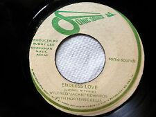WILFRED Jackie EDWARDS 45 Endless Love SONIC SOUNDS reggae JAMAICA press c2636