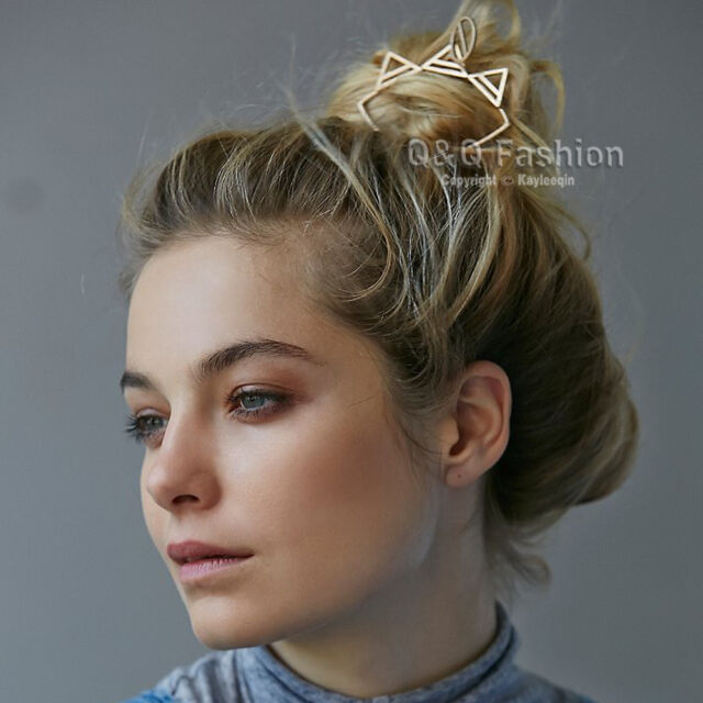 Gypsy Triangle Cat French Updo Hair Bun Holder Pin Clip Grunge Dress Stick