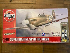 NEW AIRFIX 1:48 SUPERMARINE SPITFIRE MkVa ROYAL AIR Force Set Model Kit A50030