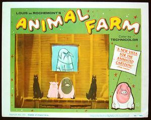 Details about ANIMAL FARM Original 1954 lobby card animation CIA cold war  red scare propaganda