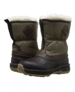 New Carters Toddler Boys Fur LIned Zipup Winter Snow Boots Sz 6 BrownKhakiBlack