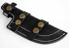 Black Leather Tracker Sheath Fixed Blade Knife Hunting Blanks Knives Case Large