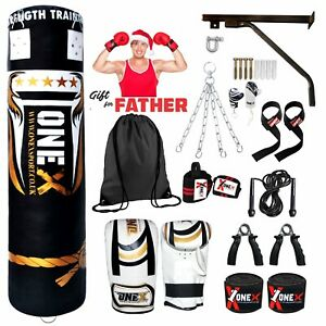 5ft-Punch-bag-Boxing-FilledHeavy-Duty-MMA-Martial-Arts-Father-Christmas-Gift-Set