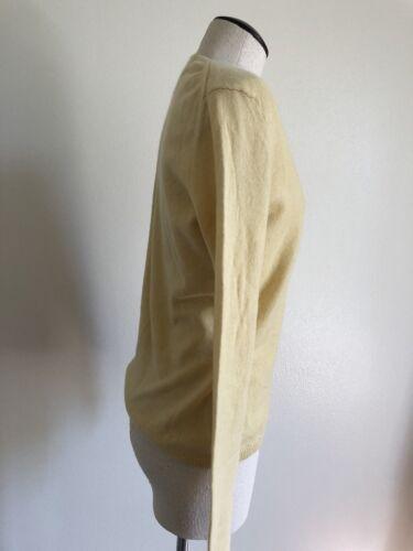 jaune en 100cachemire femme pour V classique col femmestaille petit Chandail 76fgYyb