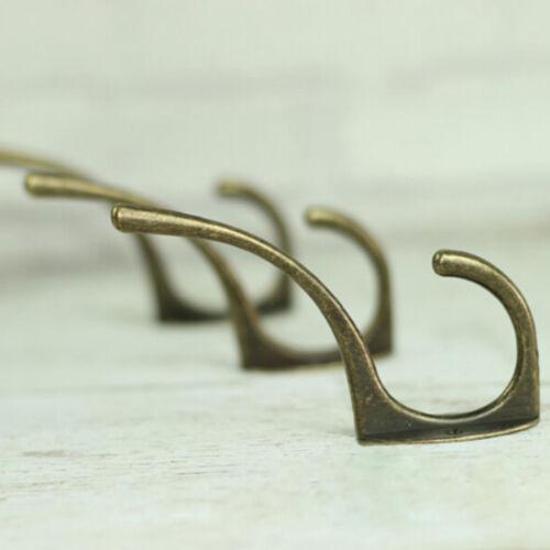 Retro Wall Mount Towel Hanger Hooks for Clothes Coat Hat Bag Antique Bronze  FJ