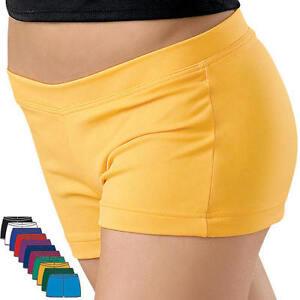 NEW Capezio Dance Gymnastics Cheer Booty Mini Shorts Many Colors Child & Adult