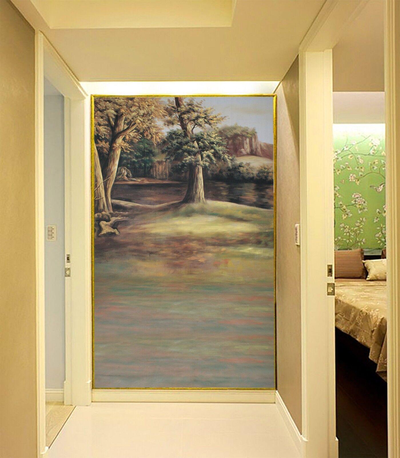 3D 3D 3D River Water Trunk Paper Wall Print Wall Decal Wall Deco Indoor Murals b0f4a6