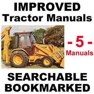 Case-580-Super-K-580SK-Service-Manual-Operators-amp-Parts-Manual-5-MANUALS-CD