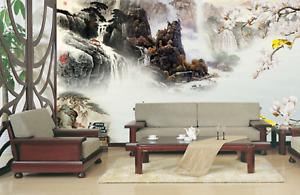 3D Waterfalls Hills 73 Wall Paper Murals Wall Print Wall Wallpaper Mural AU Kyra