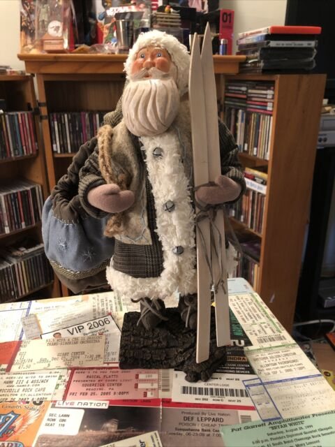 Northlight Country Rustic Standing Santa Claus Christmas Figure With Present For Sale Online Ebay