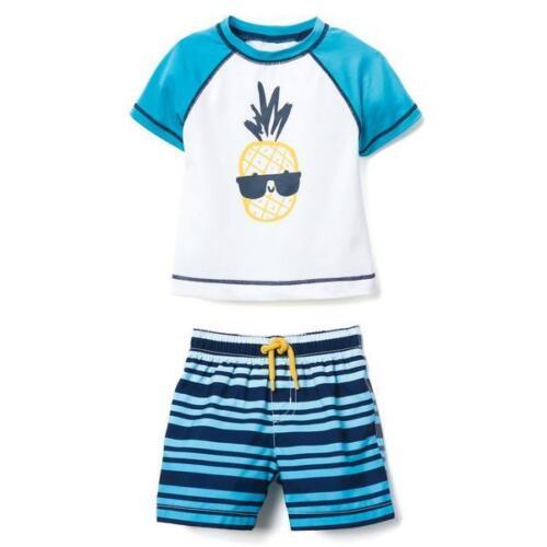 maillot de bain plusieurs taille Neuf avec étiquettes GYMBOREE Baby Boy Rash Guard Ananas SHORT SET ultraviolet facteur de protection 50