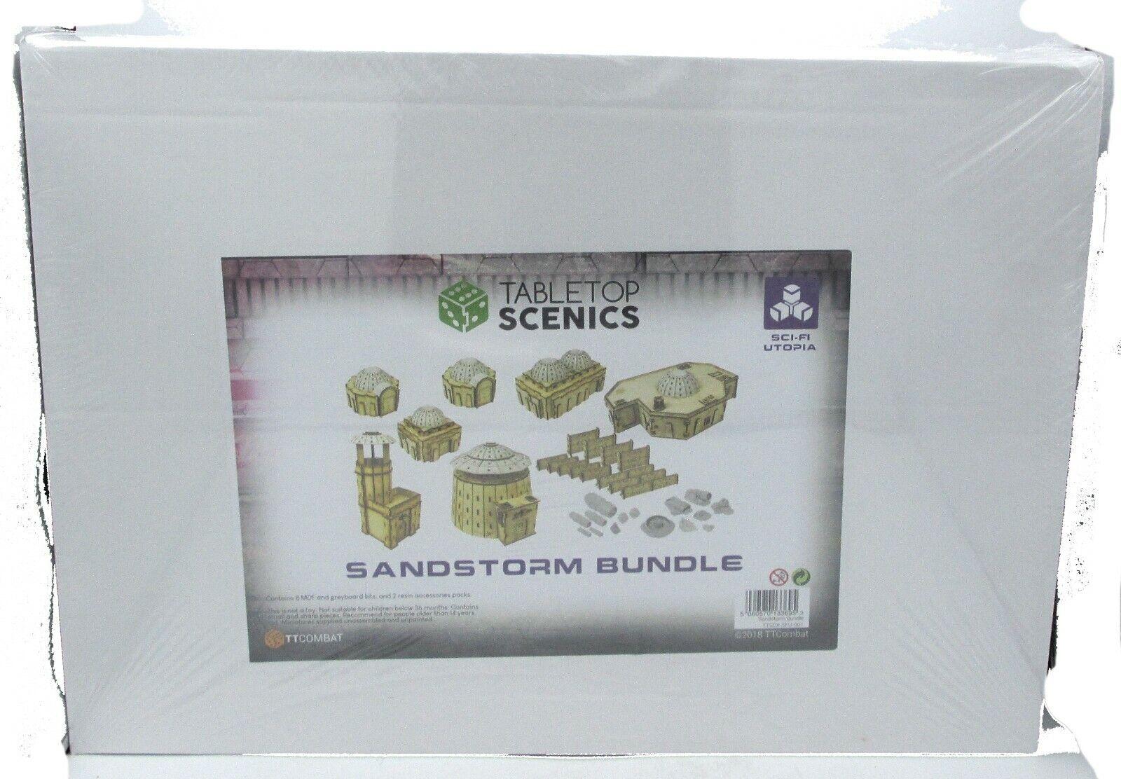 TTCombat TTSCX-SFU-001 Sandstorm Bundle (Sci-Fi Utopia) Tabletop Scenics Terrain