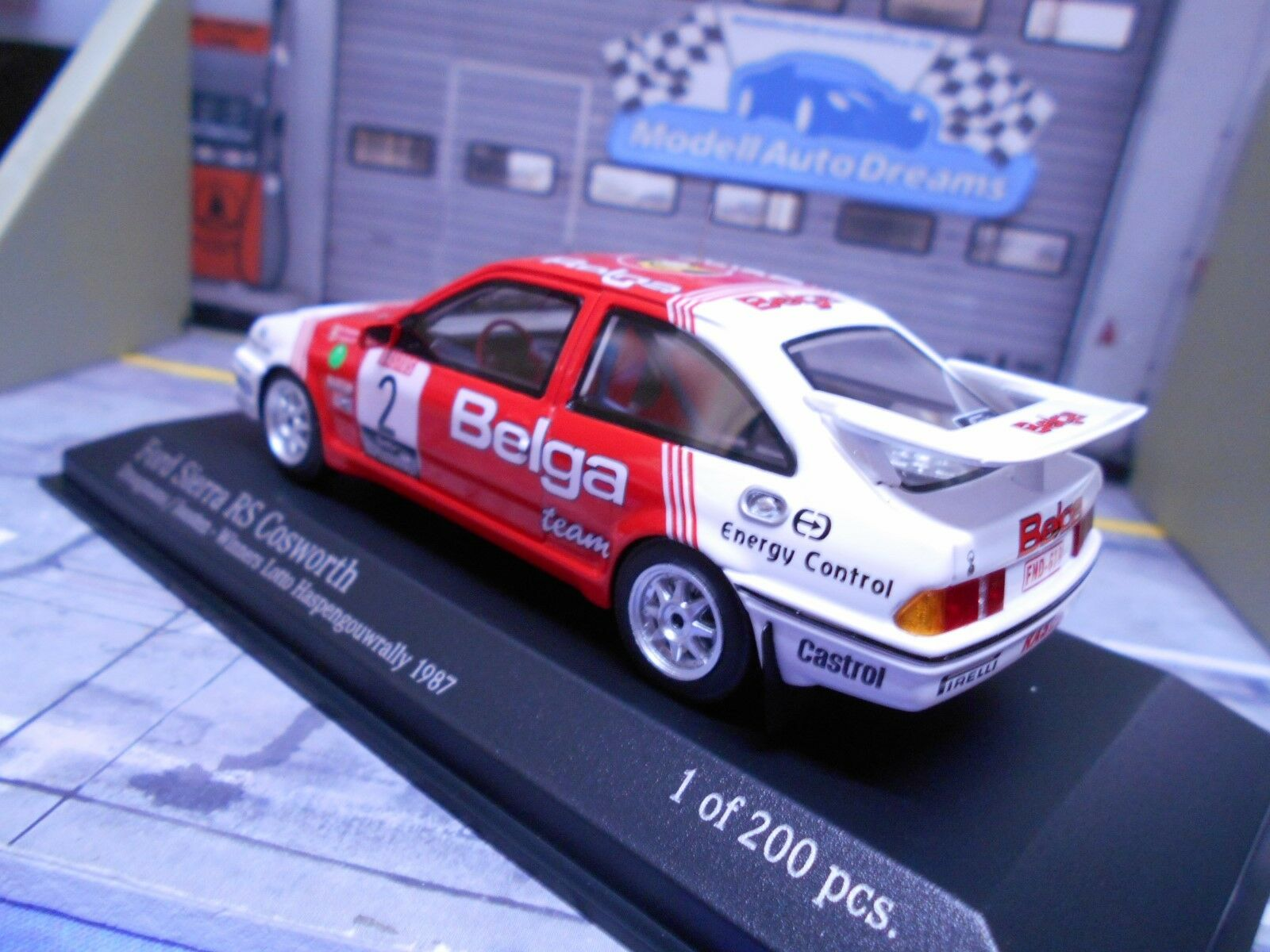 Ford Sierra Cosworth RS RS RS rally 1987 haspengouw Droogmans luntad Minichamps 1 43 38c331